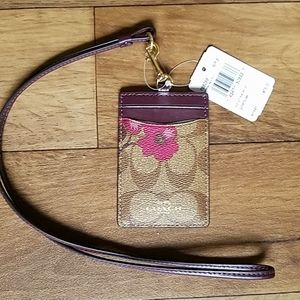 Coach ID Lanyard Case Signature Victorian Floral